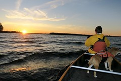 Rolling with the waves (deanspic) Tags: waves sunset photopaddle canoe canoeing paddle paddling g3x vfmc
