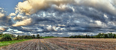 IMG_0764-66Ptzl1scTBbLGER2 (ultravivid imaging) Tags: ultravividimaging ultra vivid imaging ultravivid colorful canon canon5dmk2 clouds fields farm sunsetclouds scenic evening panoramic pennsylvania pa sky landscape rural autumn countryscene