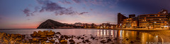 Sunset in the cala beach (ArtHermo) Tags: sunset clouds beach cala panoramica paz libertad nikon d7000 tokina 1116 kenko filters arturo hermosilla octubre 2017 villajoyosa