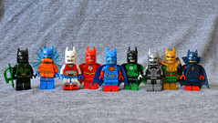 Bat League (th_squirrel) Tags: lego dc comics justice league batman greenarrow aquaman wonderwoman flash superman greenlantern cyborg hawkman martianmanhunter green arrow lantern wonder woman martian manhunter minifig minifigs minifigures minifigure