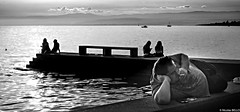 Lac Léman (NICOLAS BELLO) Tags: sony paysage blackandwhite luminosity people lumiere noiretblanc switzerland swiss luminosite landscape amazing sea lacleman lac sunset cloud beautiful lake bw light sky monochrome baw