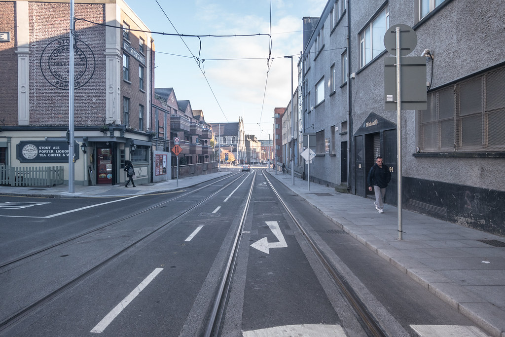 DOMINICK STREET BOTH SIDES OF THE TRACKS [THE NEW LUAS TRAM LINE]-133614