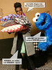 photo bomb (alegras dolls) Tags: barbie 16scale cookiemonster fashiondoll alvinaileybarbie sesamestreet diorama