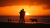 The couple & their dog A (Drummerdelight) Tags: shillouettes seaside seascape sunset sunlight sunsetting peoplewatching people dog dogandowner into sun intothesun sunlightset
