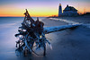 cold cold am (dK.i photography) Tags: winter redux hdr luminosity sliderssunday maryland covepoint ice beach lighthouse frigid morning sunrise tree flotsam sky water chesapeakebay longexposure sand hss