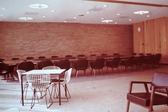 Found Photo - Mid-Century Modern Conference Room (Mark 2400) Tags: found photo mid century modern conference room bertoia chairs