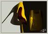 Louboutin - Paris (christian_lemale) Tags: chaussure shoe heel talon aiguille téléphone phone louboutin paris jaune yellow france nikon d7100 weeklythemes yellowstone