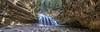 2017-10-03 Banff Alberta Johnston Canyon Waterfall Panoramic (Michael Schmidt Photography Vancouver) Tags: banffnationalpark canadianrockies canadianrockymountains gorge johnstoncanyon johnstoncanyonfalls johnstoncreek michaelschmidtphotographyvancouverbc rockymountains upperfalls waterfall artwork black blue brown beige cave dmschmidtshawca gravel green grey hikingtrail icicles limestonerock log longexposure orange originatesnorthofcastlemountain photography pool rocks sunlight touristattraction trees tributaryofbowriver tunnel white wwwmichaelschmidtphotographycom wwwthisiswhatiseeca yellow geocountry geo:lon=11583378333333 geocity geo:lat=51256403333333 geostate geolocation