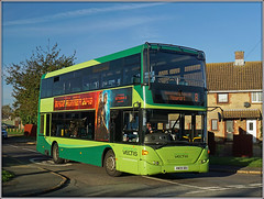 1144, Crossway (Jason 87030) Tags: 8 newport crossway roadside morning light green scania hw08bbx 1144 southernvectis doubledecker omnicity eight 2017 corner bembridge iow island isleofwight village lighting color colout wheels gosouthcoast lewishamilton tree houses street sony ilce alpha a6000 nex lens flickr tag holiday break publictransport service route vectis