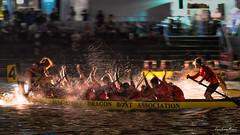 35th Singapore River Regatta 2017 (Night Race) (leslie hui) Tags: panning dragonboat singapore nightscape night