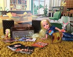 Sindy's record collection (alexmadalton) Tags: gaga katebush kitsch retro collection record vinyl doll vintage