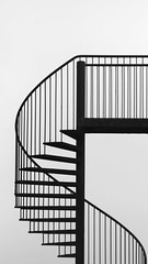 Minimal - Spiral Staircase (Visual Stripes) Tags: minimal stairs blackandwhite geometry composition