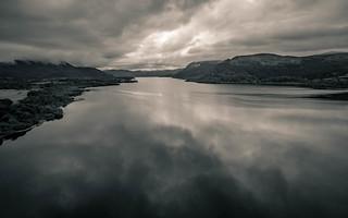 Bassenthwaite Lake Black and White