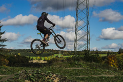 phone home (human_wildlife) Tags: bike park sport jump phone home riding sky mountainbike dirtbike fully downhill bicicle clouds hjump albstadt sony a6000 minolta 50mm greatphoto