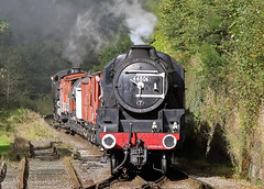 44806 LMS Stanier Class 5MT 4-6-0 (Keith B Pics) Tags: northyorkshiremoorsrailway keithbpics steamgala nymr steamloco goathland 460 stanier black5 5mt 44806 lostockhall endofsteam