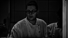 It can be a dirty business. (Neil. Moralee) Tags: neilmoralee neilmoraleenikond7200 chef cook kitchen dirty hot work dark cooking man men whites uniform staff hotel resteraunt fast food grime grimy dirt fave portrait working nikon d7200 neil moralee grain grainy high iso spooky sinister black white bw bandw blackandwhite mono monochrome dingy group people glasses young poisoning hygiene cleaning porter