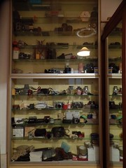 My father's photography shelves... (Lenaprof) Tags: 7daysofshooting week16 shelfshelves shootanythingsaturday