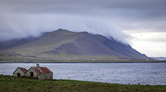 Vacant (Robgreen13) Tags: iceland landscape mountains vacant farmhouse building clouds cloudscape