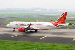 Air India (sri9695) Tags: planespotting planes plane photography photo spotting aerodrome a320 airplane aircraft airport airlines airways aviation airline airbus320 airindia ai mumbai bom bombay canon 1200d 55250mm 1855mm fog shot india