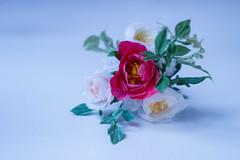 wedding bouquet for Barbie #2 (kinmegami) Tags: barbie madetomovebarbie miniatureflowers miniature bride bouquet rose peonies carnations