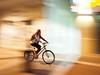 Ride through the shadows... (kallchar) Tags: panning streetphotography bicycle night