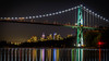 Lions Gate Bridge at Night (Sworldguy) Tags: lionsgatebridge night reflections cityscape cityscene water harbour lights fall westcoast ocean waterfront amblesidepark longexposure nikon d7000 dslr downtown port marine seascape seaside