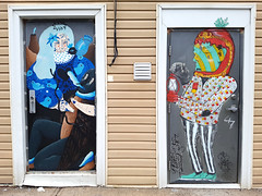 Aitch & Saddo (Exile on Ontario St) Tags: halifax northend aitch saddo aitchsaddo aitchandsaddo romanian artists door porte urban street art urbain north end novascotia doors portes mural murals artist thecoast
