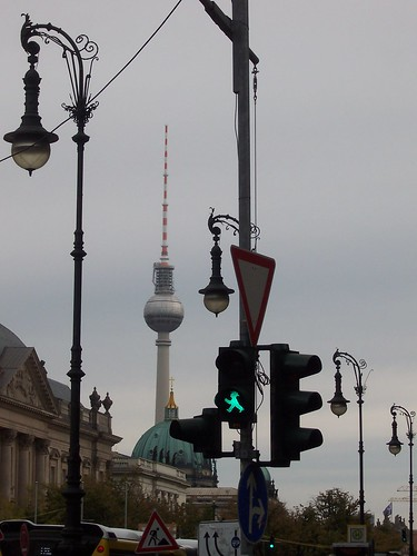 Berlin icons - TV tower and Ampelmann