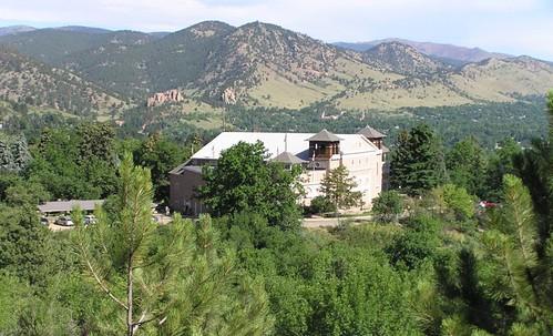 Photo - Overview of the Colorado Chautauqua Auditorium (2011).