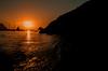 Watching the sun go down.... (Dafydd Penguin) Tags: sun set sunset sea water explore people bay cala beach cliff coasta coast evening light anchorage sailboat cruise silhouette benirras ibiza island balearic nikon df nikkor 20mm af f28d