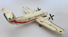 Air Ambulance - Fixed Wing (Lonnie.96) Tags: australia australian 2017 emergency plane stretcher helicopter rotor beechcraft king air agusta westland 139 200 200c red blue white wheels victoria ambulance rescue callout transport new custom moc remake