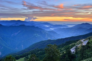 Sunset at Mountain Hehuan合歡山夕景