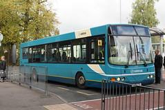 AMN 3724 @ Cannock bus station (ianjpoole) Tags: arriva midlands vdl sb200 wright commander fj06ztl the hightown hurricane working route 71 cannock bus station wolverhampton art gallery
