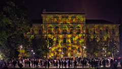 light painted (teknoec) Tags: light painting projection building szeged university autumn festival night