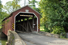 Zooks Mill Covered Bridge (Paula Stephens) Tags: covered bridge americana historic landmark building structure road transportation vintage rural warwick lancaster pennsylvania