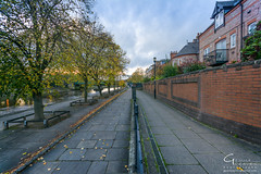 York Uk (Gemma Photo Freak) Tags: york northyorkshire yorkshire uk england gb leadinglines tree autumn branches house wall paving path metal fence river landscape cloud leaves nikon d7100 sigma 1020 wide angle super ultra