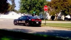 Menominee police! (Maenette1) Tags: police cruiser sunshine neighborhood menominee uppermichigan flicker365 michiganfavorites