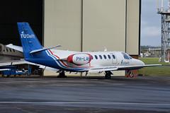 PH-LAB Cessna 550 Citation EGHH 5/9/17 (David K- IOM Pics) Tags: eghh boh bournemouth hurn airport ph phlab cessna 550 c550 citation bravo business jet