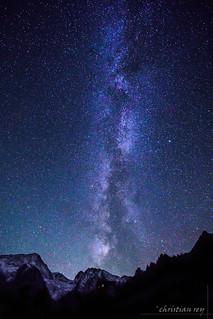 Voie lactée sur le Val d'Hérens (Valais)