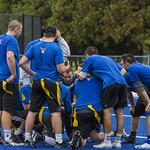 "<b>Alumni Flag Football Game</b><br/> Luther alumni played a friendly football match on the homecoming 2017 saturtday the 7th of october. The Alumni tested the new blue turf of the Legacy Field for the first time! Photo by Hasan Essam Muhammad<a href=""//farm5.static.flickr.com/4452/37072061703_01c00b81e1_o.jpg"" title=""High res"">∝</a>"