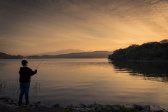 Some fishing (Mariano Colombotto) Tags: elcadilla dique dam water fishing sunset atardecer sky cielo tucuman argentina travel landscape paisaje nature nikon photographer photography infinitexposure autofocus