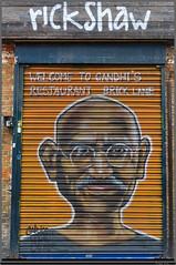 Street Art - Brick Lane - Gandhi (François Leroy) Tags: françoisleroy angleterre londres london bricklane streetart rue grafitti gandhi