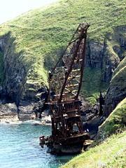 14 06 29 Samson Wreck  (1) (pghcork) Tags: samson wreck shipwreck crane craneship cranebarge barge ardmore coast sea waterford ireland ramshead cliffwalk ardmorecliffwalk