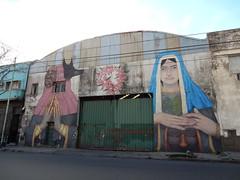 Wall of Saints (aestheticsofcrisis) Tags: street art urban intervention streetart urbanart guerillaart graffiti postgraffiti buenos aires bsas argentina la boca barracas