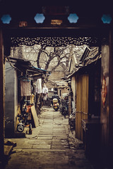 Beijing (Marcello Iaconetti Photography) Tags: beijing pechino china cina nikon d600 lightroom 5014 nikkor motorino interno interni cancello porta building cage door enter profondità tunnel