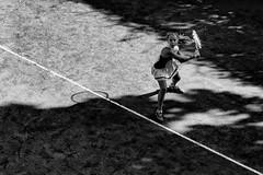 Manrovescio ... a due mani (drugodragodiego) Tags: sport tennis portrait blackandwhite blackwhite bw biancoenero ritratto girl pentax pentaxk1 k1 smcpentaxdfamacro100mm128wr pentaxdfamacro100mm pentaxiani