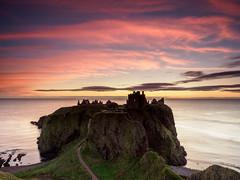 Dunnottar Castle sunrise (burnsmeisterj) Tags: olympus omd em1 dunnottarcastle sunrise sea sky scotland stonehaven castle ruin silhouette