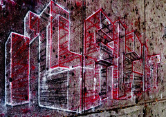 Short lived street art Near 7th avenue on 14th Street (TheMachineStops) Tags: 2017 outdoor nyc newyorkcity manhattan sidewalkart urbanart streetart pavement chalk pastels panorama 14thstreet
