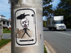 Push-to-walk (Fred:) Tags: sticker funny pedestrian crossing cross street stickers halifax stickerart quinpool district grumpy complain grimace face head cartoon dessin illustration annoyed traffic automobile truck push walk novascotia beg button buttons pictogram pictogramme pole post arrow pictograms intersection coin rue traverser