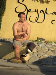 IMG_0199 (CAHairyBear) Tags: men man hom homme hombre uomo shirtless hairychest bulge